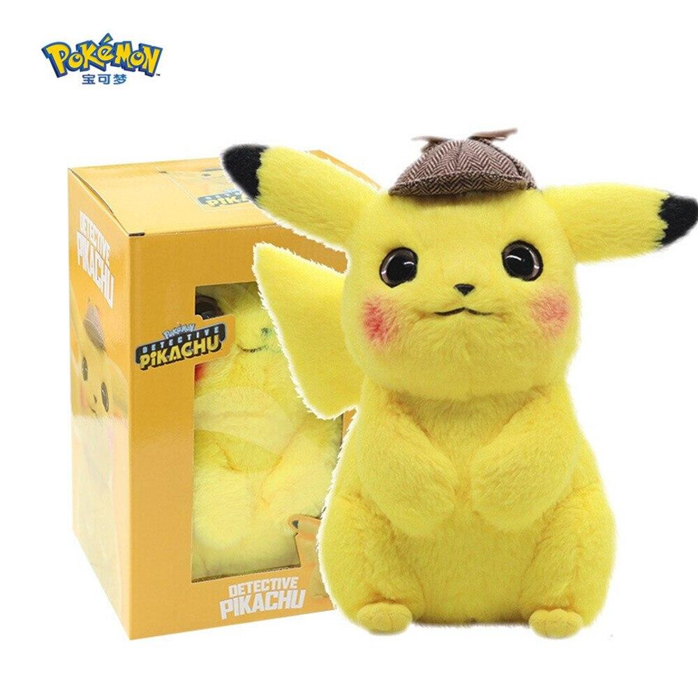 Takara Tomy movie Detective Pokemon Pikachu plush toys Animal Plush Stuffed doll Toys action figure model Kids birthday gifts